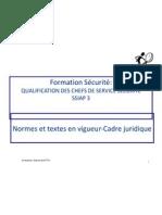 CFAS-SSIAP 3- Cadre Juridique Textes Et Normes