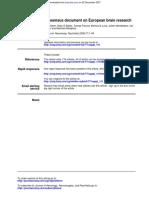Consensus Document on European Brain Research