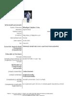Model Cv Curriculum Vitae European