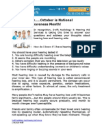 Did you know…..October is National Audiology Awareness Month!