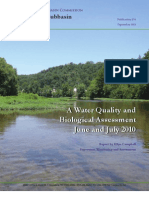 Juniata River Subbasin Year-1 Survey, A Water Quality and Biological Assessment, June and July 2010