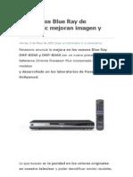 Los Nuevos Blue Ray de Panasonic Mejoran Imagen y Sonido