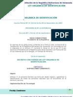 LEY ORGÁNICA DE IDENTIFICACIÓN