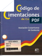 Código de Cimentaciones de Costa Rica