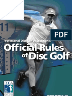 PDGA Rules Competition Manual Combined 2011