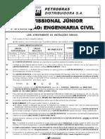 PROVA 17 - PROFISSIONAL JÚNIOR - FORMAÇÃO ENGENHARIA CIVIL