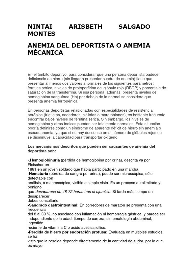 valores de hemoglobina para considerar anemia