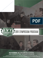 2011 Ivy Sports Symposium Program
