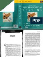 Anastasi & Urbina, Psychological Testing - Reliability