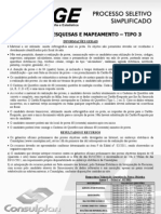 Consulplan_agente de Pesquisas e to - Tipo 9874