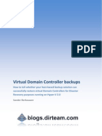Backing Up and Restoring Virtual Domain Controller With Host-based Backup Solutions