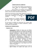METODOS DE CONSERVACIÓN