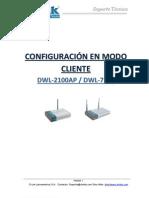 DWL-2100AP Configuracion en Modo CLIENTE