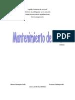 Manual de Mantenimiento de PC's