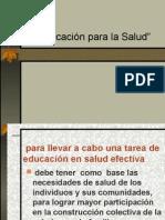 Educacion Para La Salud Visto 2011