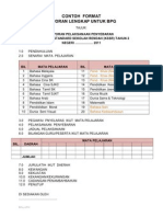 Format Laporan Lengkap Laksana Kssr 2011