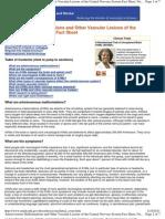 Arte Rio Venous Malformations Nervous System Fact Sheet