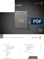 h.264 Pro Recorder Manual