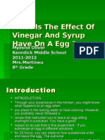 What is the Effect of Vinegar and Syrup