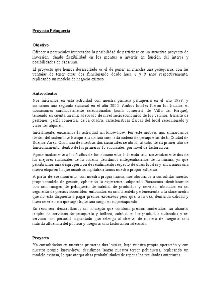 Presentacion proyecto peluqueria 1 - Proyecto de peluqueria ...
