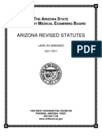 Arizona Board of Veterinary Examiners Statutes and Regulations