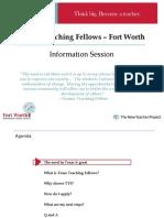 Texas Teaching Fellows Interview