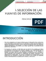 SELECCIÓN DE LAS FUENTES DE INFORMACIÓN