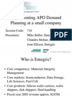 Implementing Apo Demand Planning at a Small Company 1051