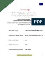 Godavari Sugar Mills -Assocham Csr Case Study Format