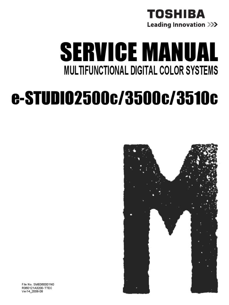 toshiba e studio 281c 351c 451c service manual service handbook parts list catalog