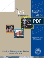 FMS Information Bulletin 2008