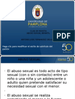Abuso Sexual Infantil desde terapia ocupacional