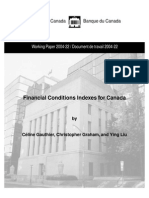Financial Conditions Indexes for Canada