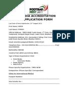 Media Accreditation Application Form Final