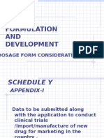 Formulation and Development