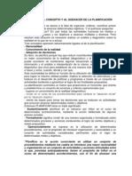CONCEPTO Y AL QUEHACER DE LA PLANIFICACIÓN