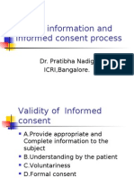 Patient Information and Informed Consent Process
