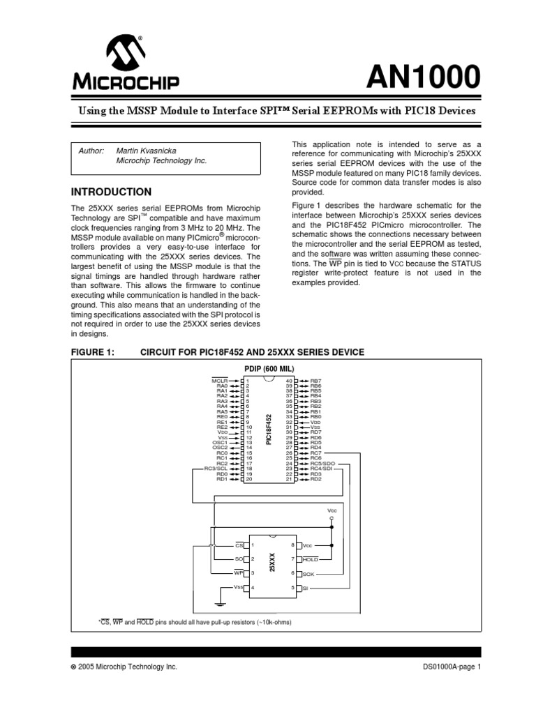 Spi Pic Microcontroller Integrated Circuit Timing Diagram Some Sample Code Microchip39s Application