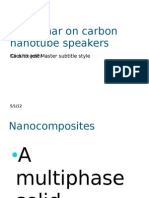 A Seminar on Carbon Nanotube Speakers