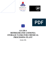 Refrigerated Ammonia Storage Tanks for Chemical Processing Plant