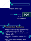 Importing of Drugs