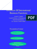 Overview of International Business Functions