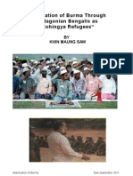 """Islamization of Burma Through Chittagonian Bengalis as """"Rohingya Refugees"""""""