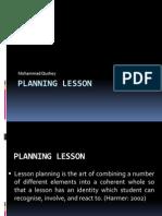Planning Lesson Presentation