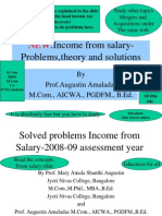 Income From Salary Problems Theory and Solutions New 200809 Assessment Year 1222393780092207 8