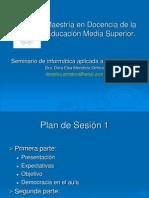Plan de sesión 1