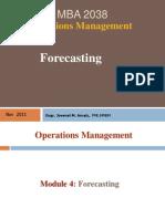 MBA2038 1T10 Wk4 Forecasting