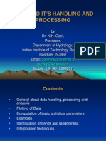 Data and Its Handling and Processing