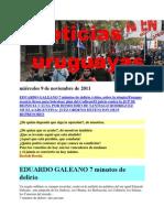 Noticias uruguayas miércoles 9 de noviembre de 2011