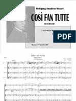 [Sheet Music] Mozart - Così Fan Tutte - Ouverture [Saxophone Quartet - Score and Parts]